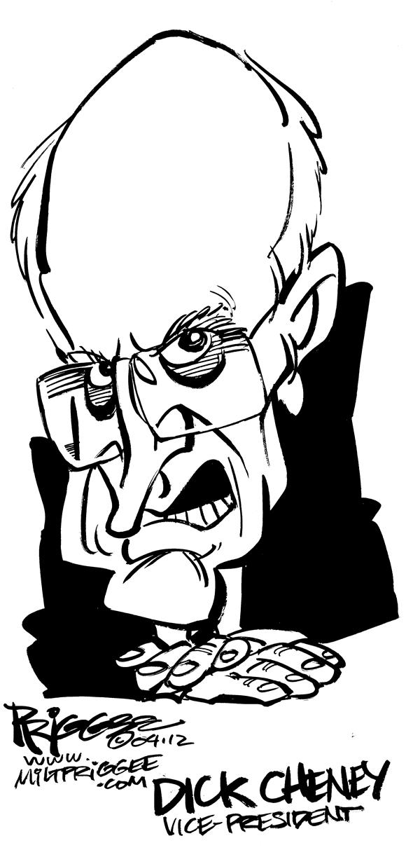 Milt Priggee - www.miltpriggee.com - Cheney caricature - English - dick cheney caricature vice president united states america terror