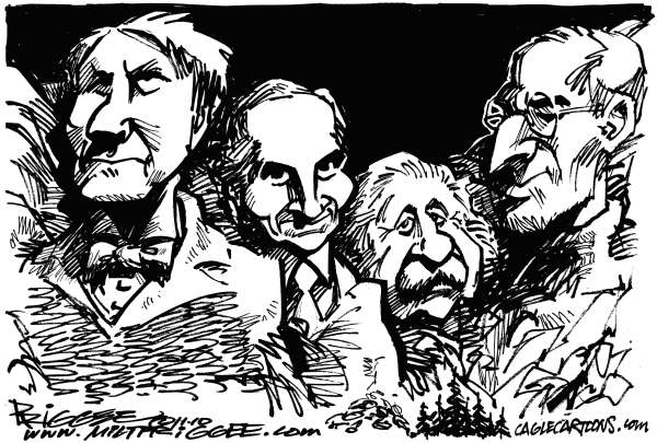 99400 600 EdisonFordEinstein and Jobs cartoons