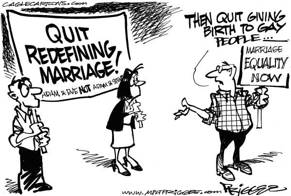 Milt Priggee - www.miltpriggee.com - Same-Sex Marriage - English - same-sex, marriage, equality, gays, lesbians,