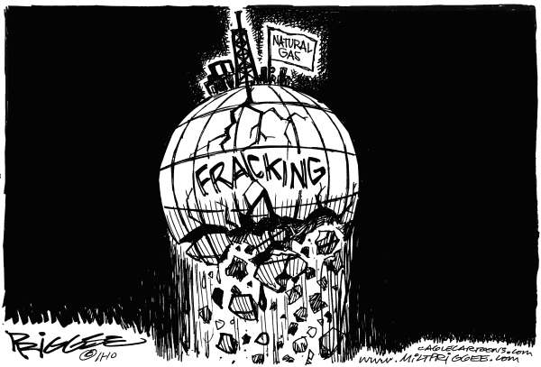 Fracking © Milt Priggee,www.miltpriggee.com,natural gas, fracking, enviornment, science, pollution