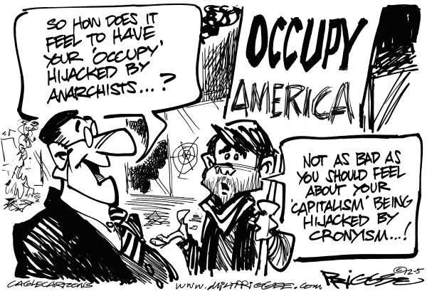 May Day Protests © Milt Priggee,www.miltpriggee.com,capitalism, cronyism, occupy, anarchists, protests, demonstrations,