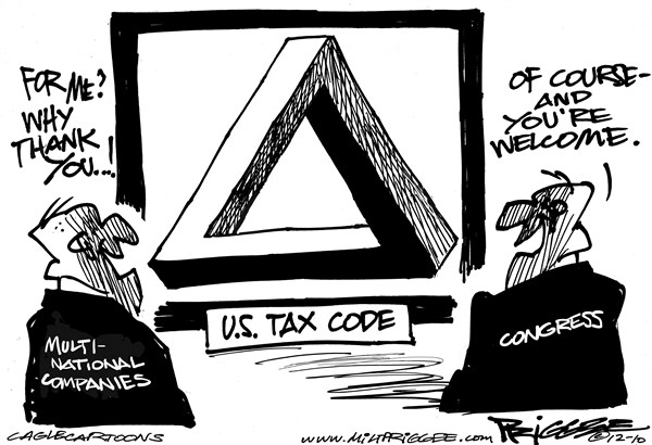 Milt Priggee - www.miltpriggee.com - US Tax Code - English - America, United States, tax code,