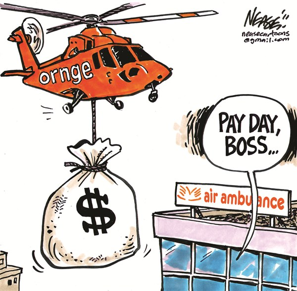 Pay Day © Steve Nease,Freelance,pay day,boss,air,ambulance