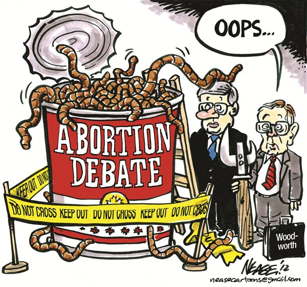 Can of Worms © Steve Nease,Freelance,can,worms,abortion,debate