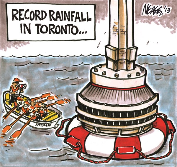 Record Rain © Steve Nease,Freelance,record,rain,flood,toronto