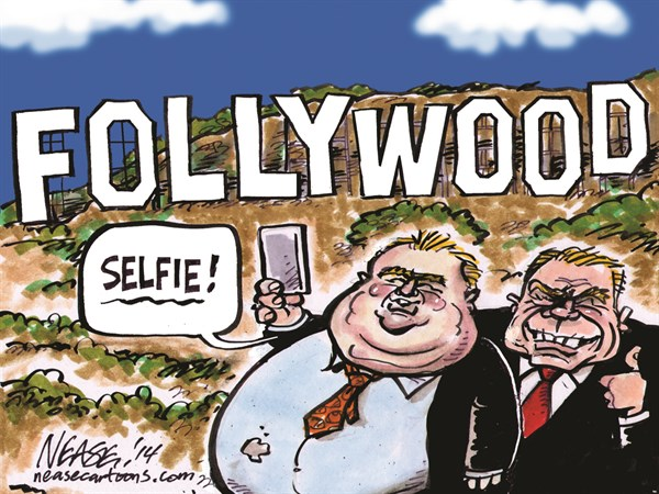 Ford in LA © Steve Nease,Freelance,rob ford,hollywood,selfie
