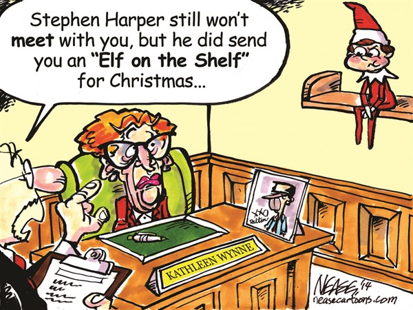 Elf on Shelf © Steve Nease,Freelance,elf,shelf,kathleen wynne,canada,christmas,harper