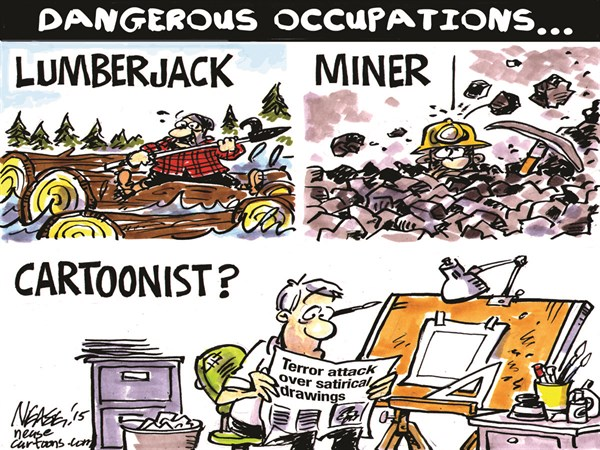 Dangerous Occupations © Steve Nease,Freelance,charlie hebdo,cartoonists,occupation,dangerous,freedom,muhammad,charlie-hebdo-attack