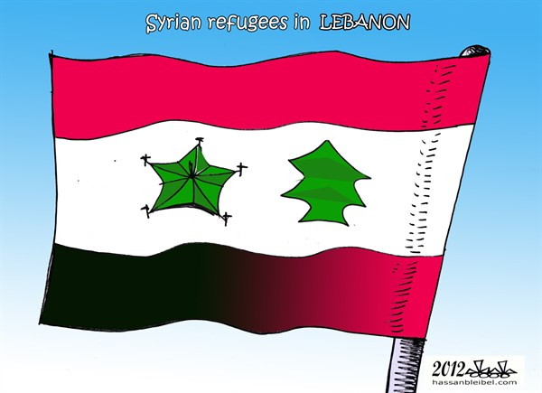 124246 600 Syrian Refugees in Lebanon cartoons
