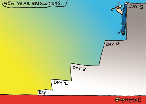 142579 600 New Year Resolutions cartoons