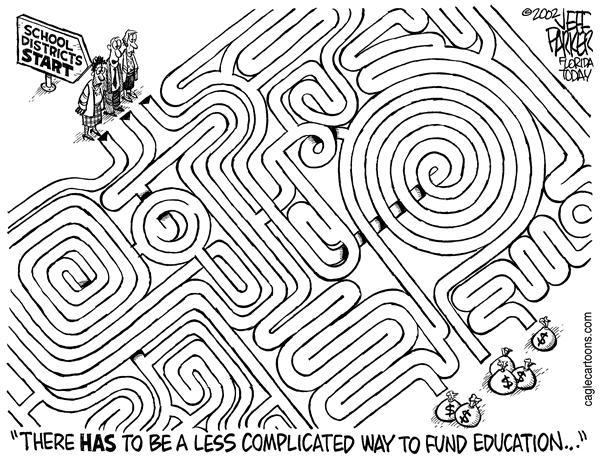 Parker - Florida Today - Education Funding Maze - English - Education, funding, schools, money, taxes, budget
