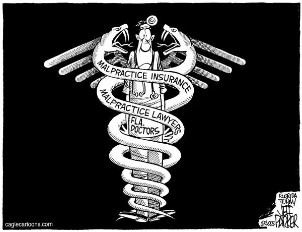 Parker - Florida Today - LOCAL FL Malpractice Caduceus - English - Medical, malpractice, crisis, doctors, insurance, lawyers, medicine, health care