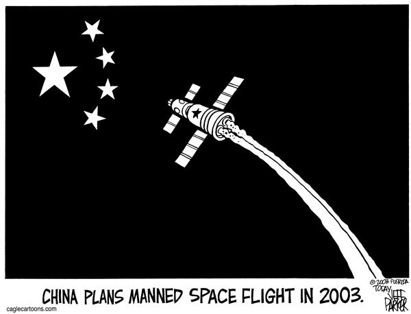 Parker - Florida Today - China Looks to the Stars - English - China, space, manned, flight, astronaut