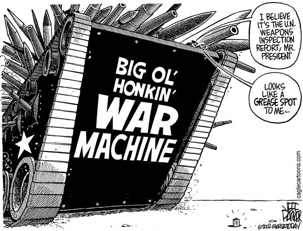 Parker - Florida Today - Big Ol' Honkin' War Machine - English - War, Iraq, weapons inspections, report