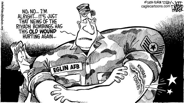 Parker - Florida Today - LOCAL FL Eglin AFBs Old Wound - English - Terrorism, bombing, Saudi Arabia, Eglin AFB, Khobar Towers
