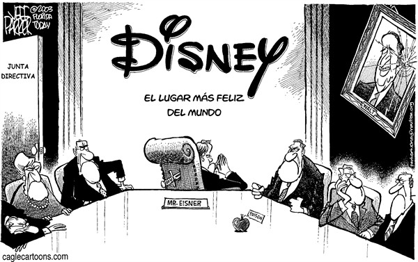 Parker - Florida Today - Junta de Disney - Spanish - disney, world, land, junta, directiva, pelea, walt