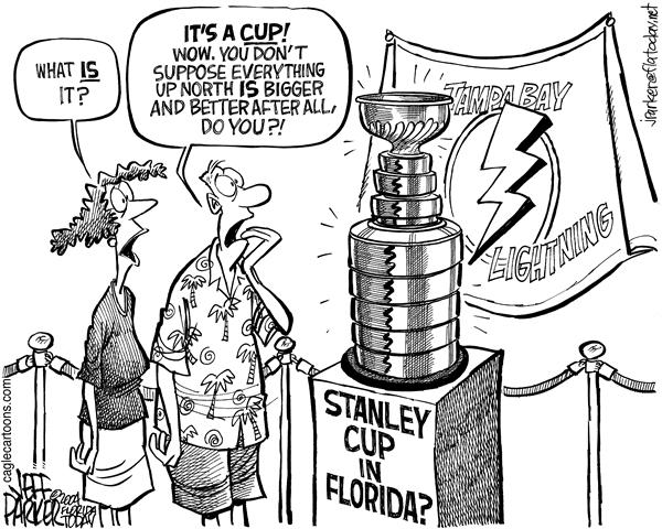 Parker - Florida Today - Stanley Cup in Florida - English - Hockey Tampa Bay Lightning Stanley Cup