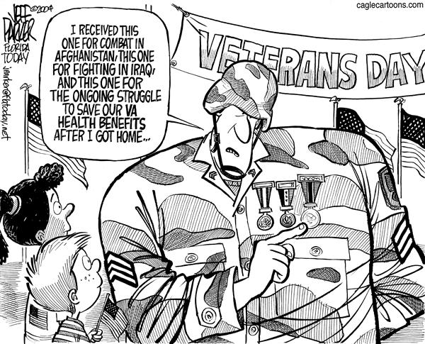 Parker - Florida Today - Veterans Day - English - Veterans Iraq Afghanistan benefits VA health insurance