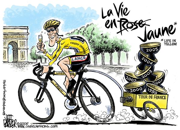 Parker - Florida Today - Lance Wins 7th - English - Tour de France Lance Armstrong sports cycling