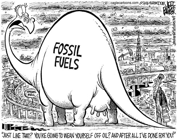 Parker - Florida Today - Udderly Ridiculous - English - Oil energy fossil fuel wean George W Bush alternative source