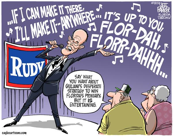 46002 600 Rudy Croons for Votes cartoons