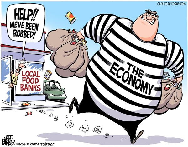 54317 600 Food Bank Robbery cartoons