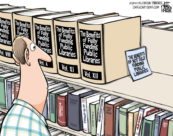 78660 600 Shelve the Library Cuts cartoons