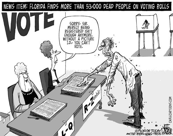 Jeff Parker - Florida Today and the Fort Myers News-Press - Dead Voters ID'd - English - Florida, voting, dead, voters, registered, registration, rolls, purge, list, fraud, photo, ID