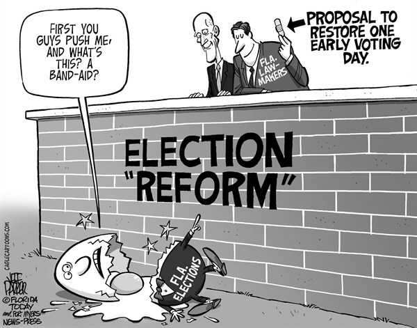 125261 600 LOCAL FL Election Reform Band aid cartoons