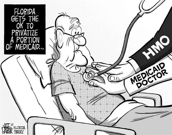Jeff Parker - Florida Today and the Fort Myers News-Press - LOCAL FL HMO Managing Medicaid - English - Florida, medicaid, HMO, privatize, plan, elderly, nursing, home, care, managed