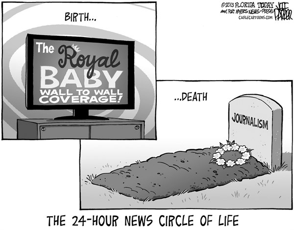 Jeff Parker - Florida Today and the Fort Myers News-Press - Royal Baby Media Coverage - English - UK, Britain, England, king, queen, prince, princess, William, Kate, baby, media, coverage, cable, news