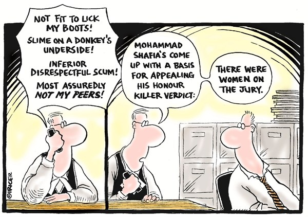 105642 600 Appealing His Honour Killing Verdict cartoons