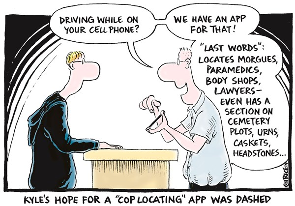 A Cop Locating App © Ingrid Rice,British Columbia, Canada,texting and driving,texting,driving,app,cell phone