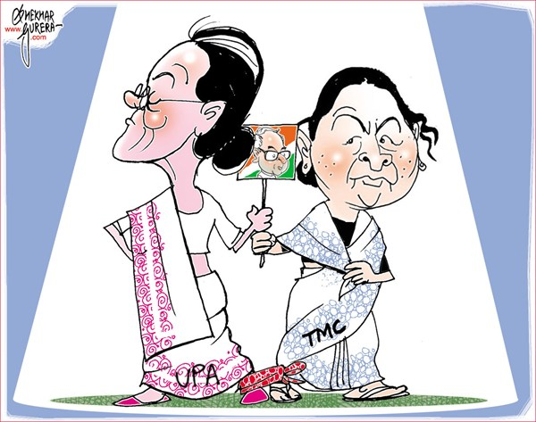 UPA and TMC © Shekhar Gurera,The Pioneer, Punjab Kesari,