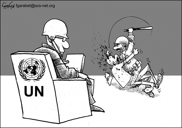 110725 600 UN and Violence cartoons