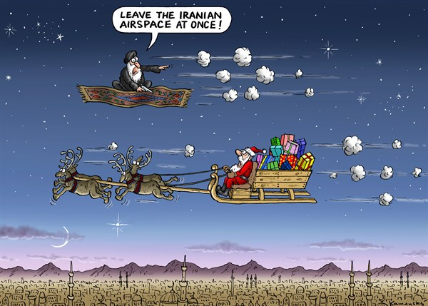 Marian Kemensky - Slovakia - Santa in Iran - English - santa,airspace,presents,gifts,fly,missiles