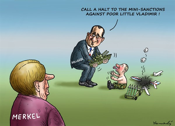 Sanctions Against Putin © Marian Kemensky,Slovakia,sanctions,putin,merkel,hollande