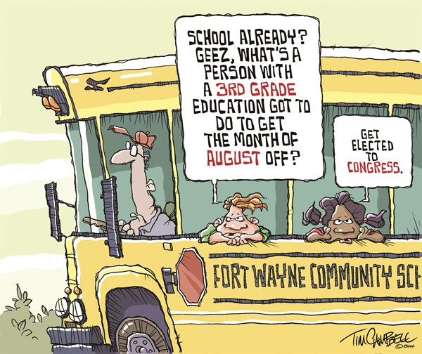 Bus Ride © Tim Campbell,Indianapolis,Fort Wayne Journal Gazette, School in August, Congress