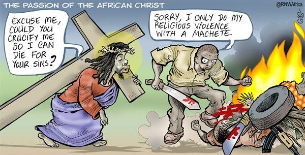 147456 600 Passion of the African Christ cartoons