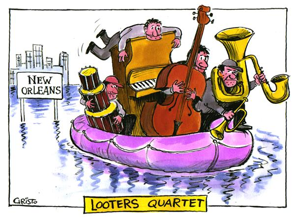18959 600 Looters Quartet cartoons