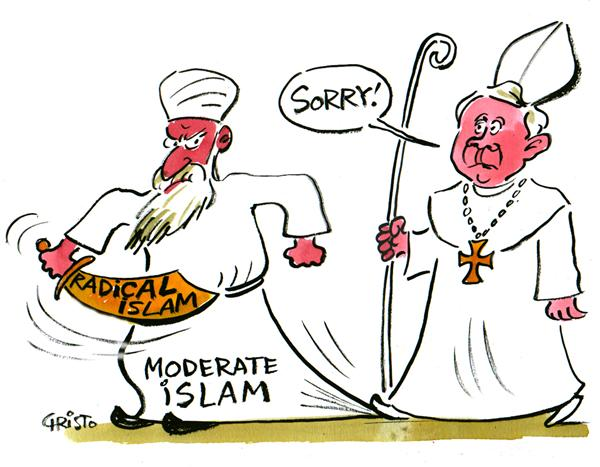 30483 600 Pope and Islam cartoons