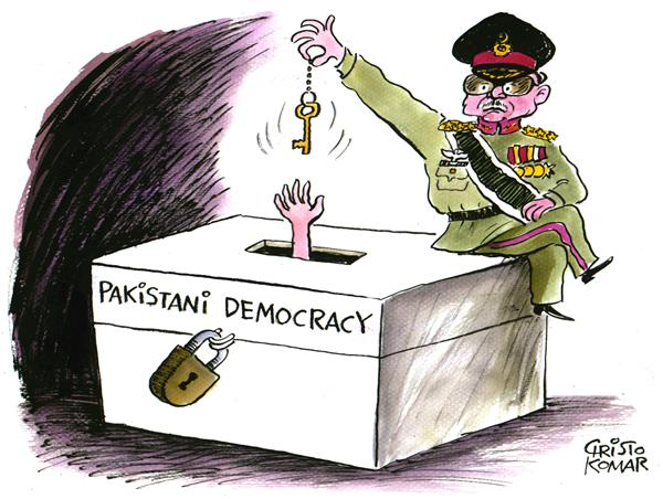43524 600 Pakistani transition to democracy cartoons