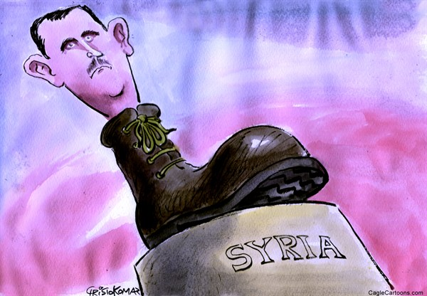 Christo Komarnitski - Bulgaria - Bashar al-Assad - English - Bashar al-Assad, World, Syria, Political, Iartoon