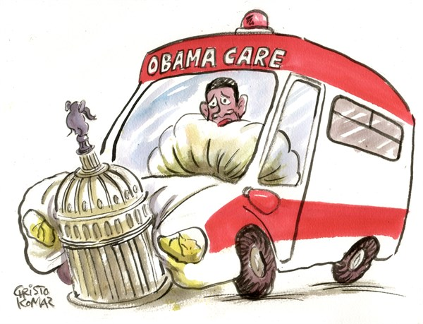Christo Komarnitski - Bulgaria - Obamacare ambulance - English - 		Obama, President, US, obamacare, Congress, ambulance