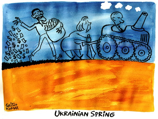 Christo Komarnitski - Bulgaria - Ukrainian Spring - English - 			Ukrainian Spring,Ukraine,Russia,Europe,USA,Putin,Merkel,Obama,World