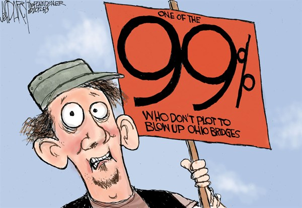 Jeff Darcy - Cleveland.com - One of the 99% - English - 99 percent,ohio,bridges,blow,protest,income