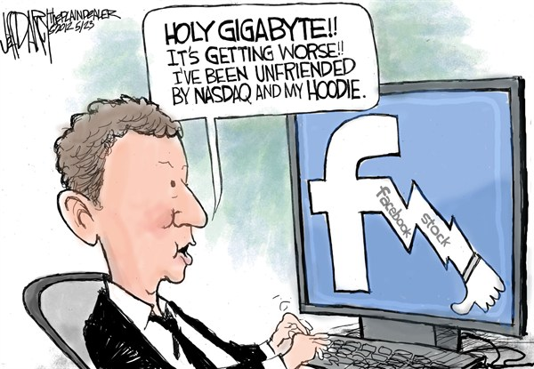 Jeff Darcy - Cleveland.com - Facebook Stock Falls - English - facebook,stock,falls,prices,nasdaq,hoodie,unfriended,internet,wall street