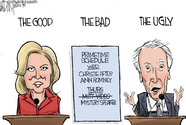 Good  Bad  Ugly © Jeff Darcy,The Cleveland Plain Dealer,eastwood,speech,speaker,convention,gop,republican,romney,campaign,election,clint-eastwood,republican-convention-2012