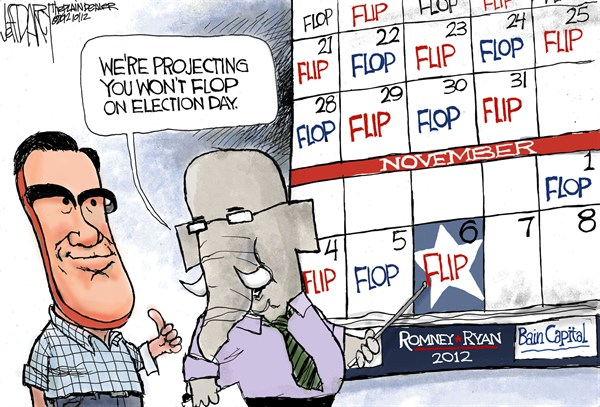 Jeff Darcy - Northeast Ohio Media Group - Mitts Flip - English - romney,flip,flop,polls,election,campaign,romney-rising