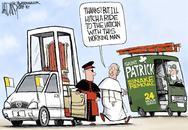 128805 600 Humble Pope hitches a ride cartoons